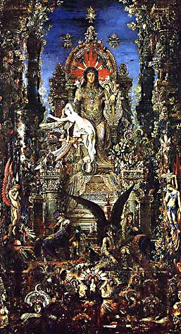 GUSTAVE MOREAU: JUPITER AND SEMELE(Detail)