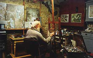 JOHFRA IN HIS STUDIO